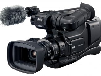 JVC's GY-HM70 shouldermount camcorder.