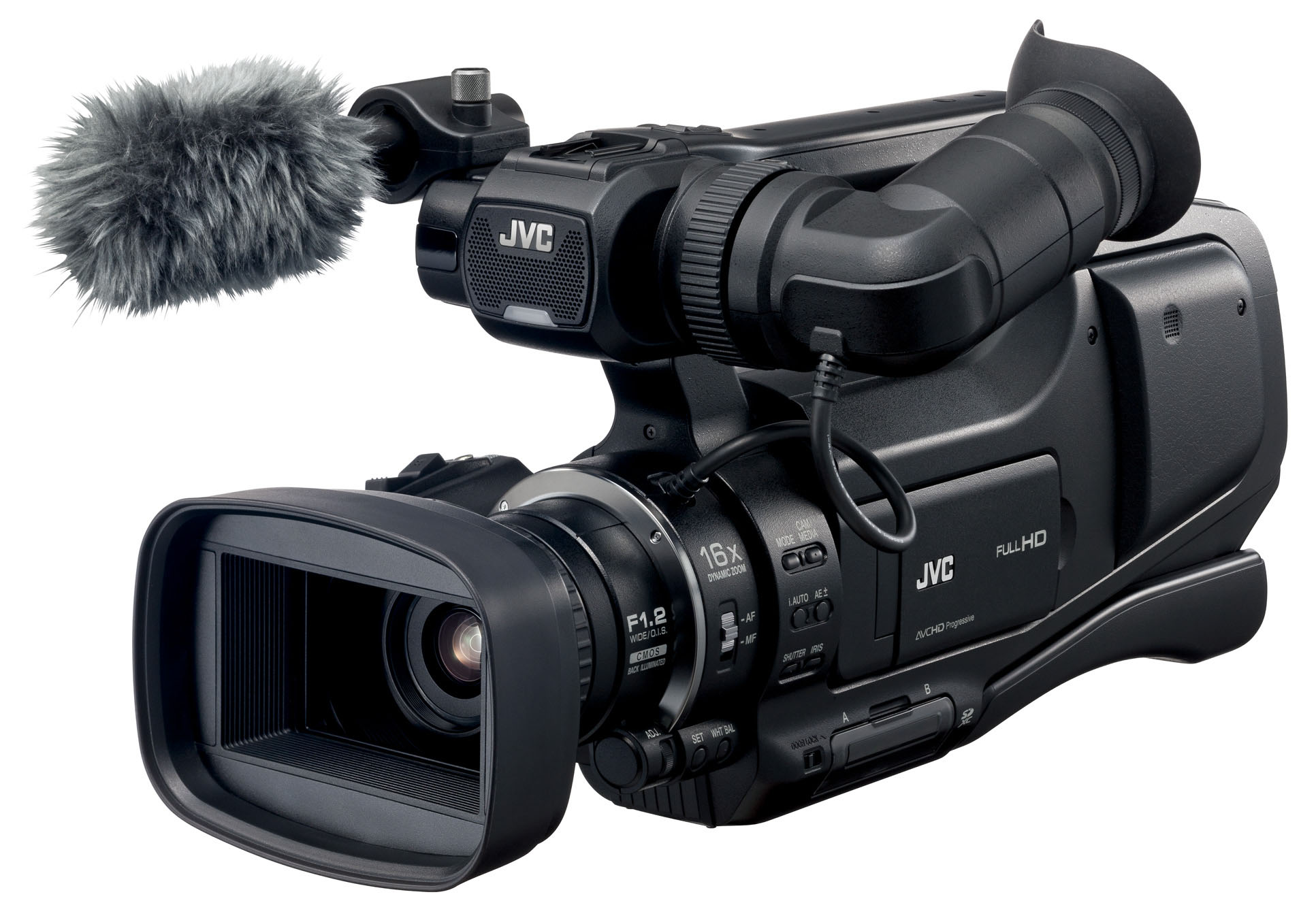 JVC's GY-HM70 shouldermount camcorder.