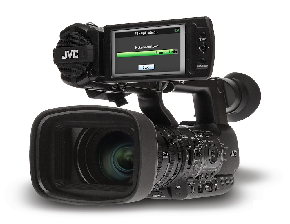 Jvc brings live streaming to gy hm650 camcorder for Camera streaming live
