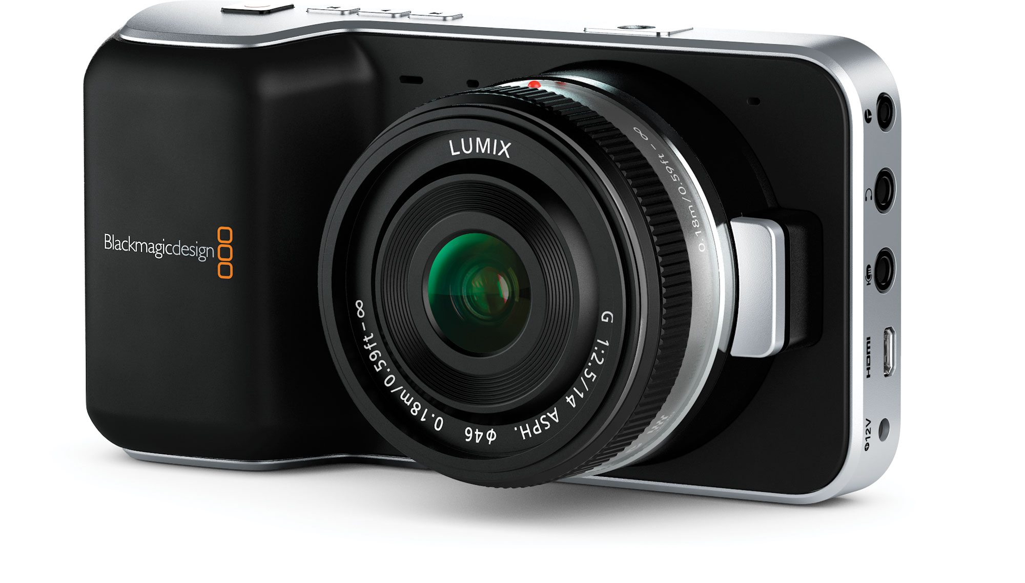 The Blackmagic Pocket Cinema Camera.