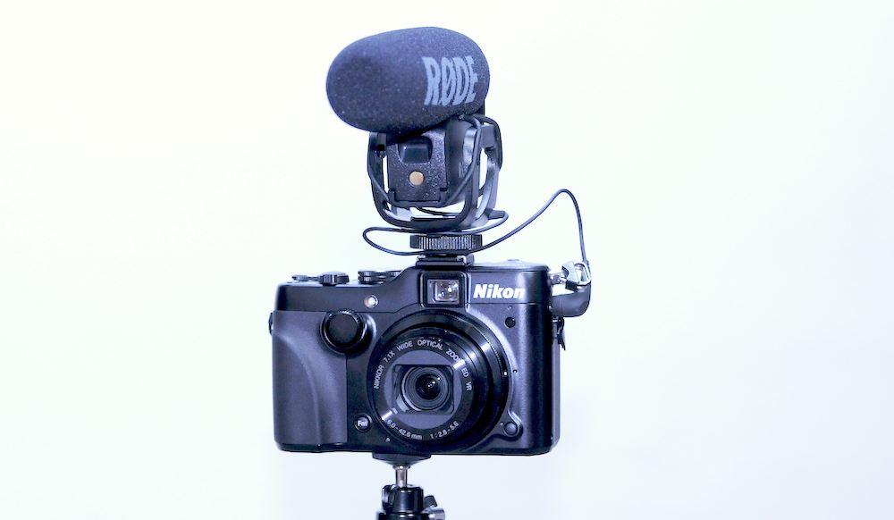 Nikon P7100 and Rode Video Mic Pro