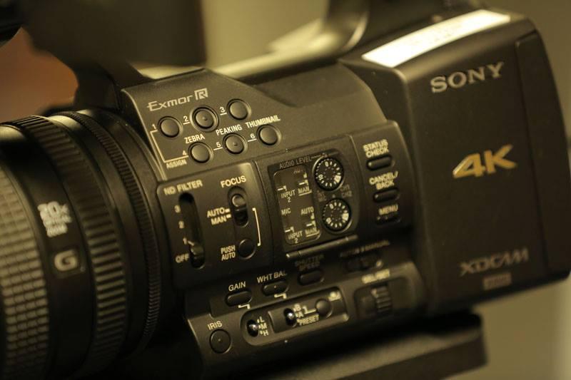 Sony PXW-Z100 controls
