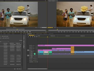 Premiere Pro in action.