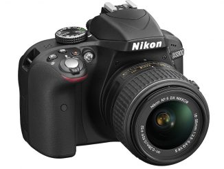 Nikon D3300 with 18-55mm