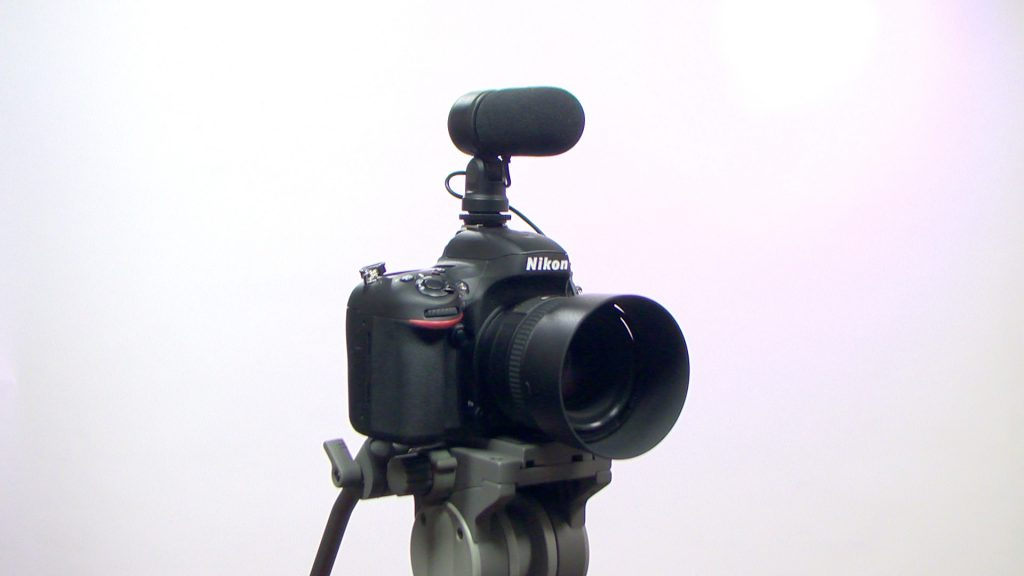 The NIkon D610 and ME-1 mic.