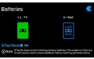 Atomos Ninja Blade D Tap power screen