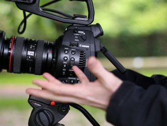 Canon C100 with EF 24-105mm f4 L-series lens