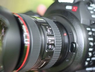 C100 with lens close up