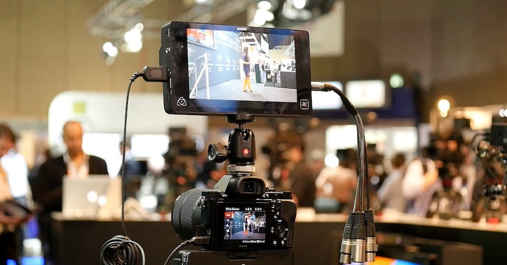 Shogun on the Atomos stand at IBC