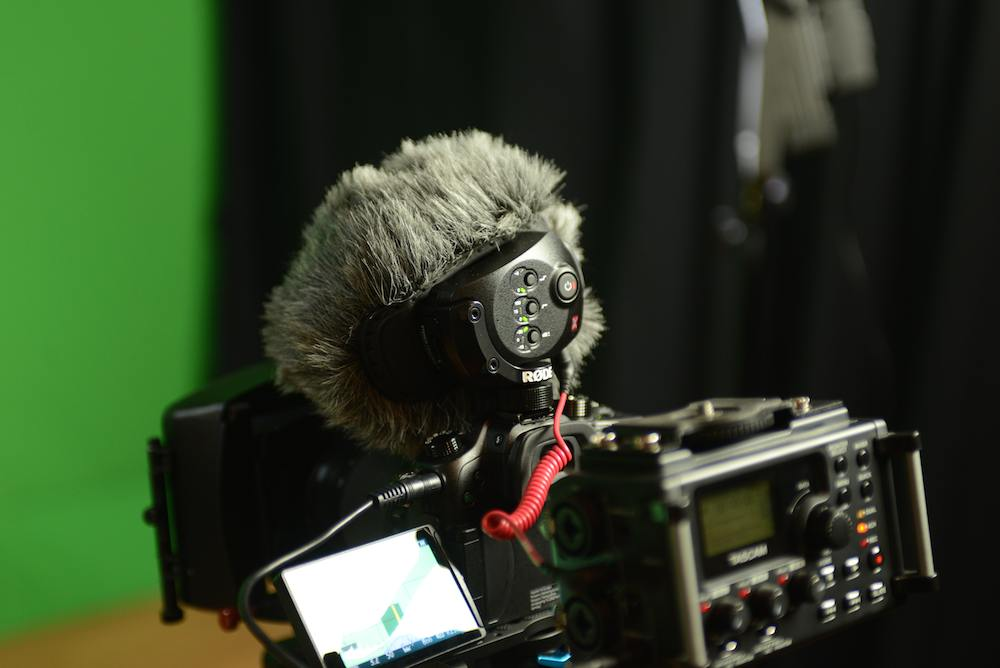 Røde Stereo Video Mic X and Tascam DR-60D on our test GH4 camera