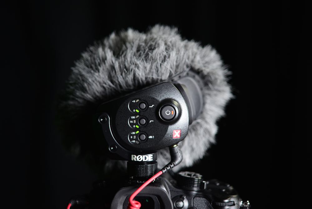 Røde Stereo Video Mic X switches