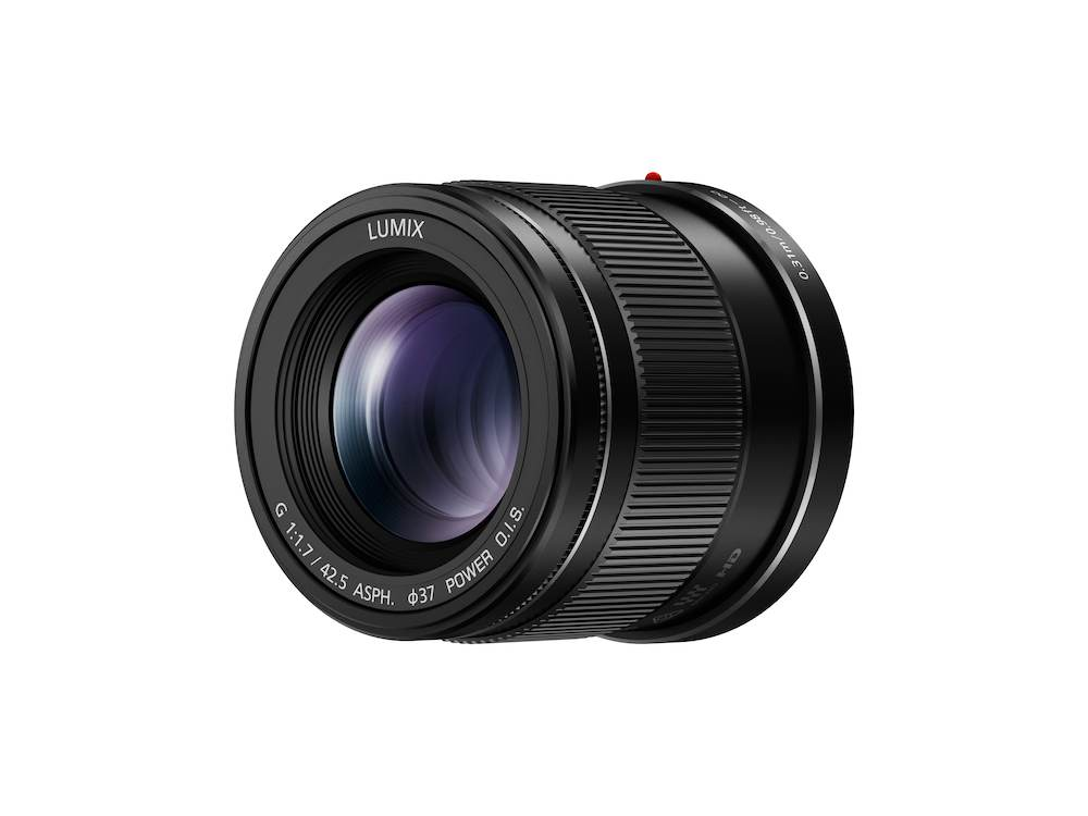 Panasonic's 42.5mm, f1.7 lens