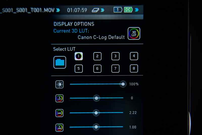 Atomos Shogun with AtomOS6.2 and LUTs