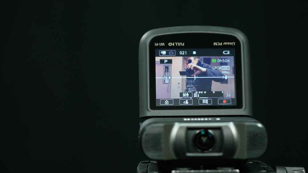 Canon Legria Mini X's settings screen