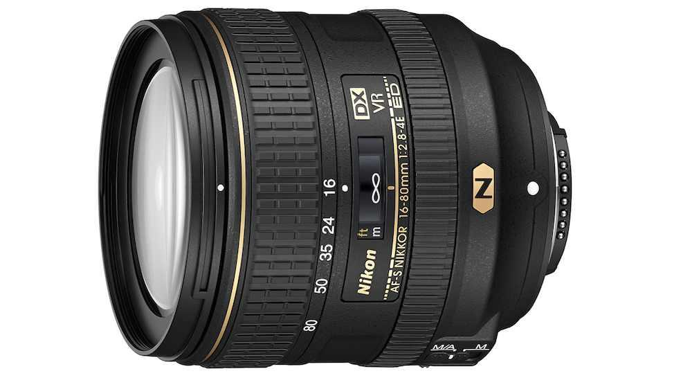 ikon's 16-80mm, f2.8-f4 Nikkor lens
