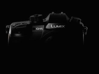 Panasonic GH5 on dark background