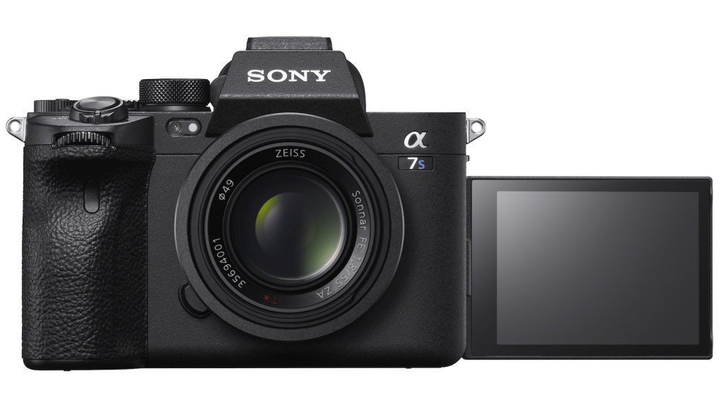 Sony A7S III front view with screen