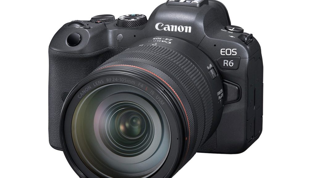 Canon EOS R6 with lens